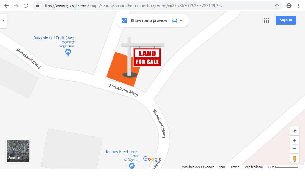 Residential Land on Sale in Basundhara