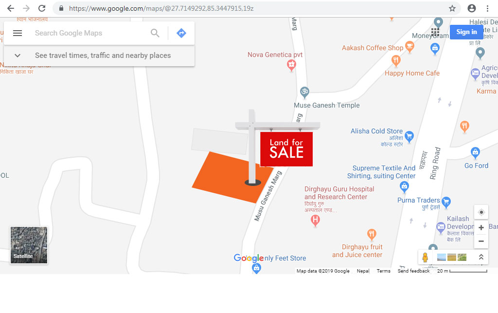 Commercial Land on Sale in Chabahil